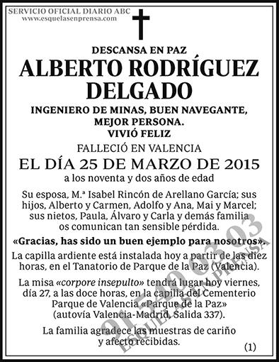 Alberto Rodríguez Delgado